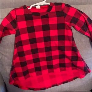 Other - Hi low black and red checked dress